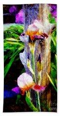 Iris Bloom Hand Towel