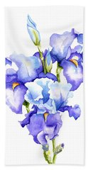 Iris Blooms Bath Towel