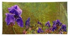 Iris Garden Hand Towel by Jeff Burgess