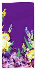 Iris Garden Purple Sky Bath Towel