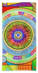 Iris Hand Towel by Jeremy Aiyadurai