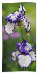 Hand Towel featuring the photograph Iris Loop The Loop  by Rona Black