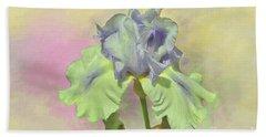 Iris Pastels Bath Towel by Suzanne Handel