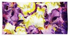 Iris Petals Abstract Bath Towel