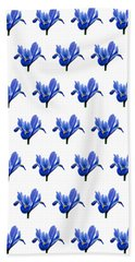 Hand Towel featuring the photograph Iris Recticulata-2 by Paul Gulliver