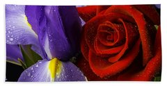 Iris Rose Bath Towel