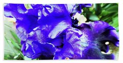Irises 20 Hand Towel
