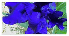 Irises 3 Hand Towel