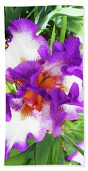 Irises 5 Hand Towel