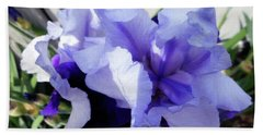 Irises 7 Hand Towel