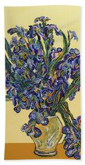 Irises  Hand Towel
