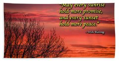 Hand Towel featuring the photograph Irish Blessing - May Every Sunrise... by James Truett