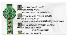 Irish Celtic Wedding Blessing Bath Towel