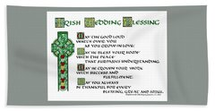 Irish Celtic Wedding Blessing Hand Towel