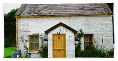 Irish Cottage With A Yellow Door Hand Towel