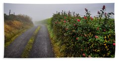 Hand Towel featuring the photograph Irish County Road In Autumn by James Truett