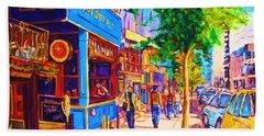 Irish Pub On Crescent Street Hand Towel by Carole Spandau