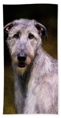 Irish Wolfhound Portrait Bath Towel