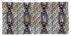 Iron Chains With Metal Panels Seamless Texture Bath Towel