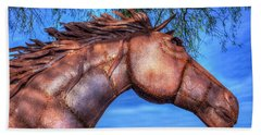 Hand Towel featuring the photograph Iron Horse by Paul Wear