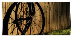 Iron Wheel Bath Towel by Jay Stockhaus