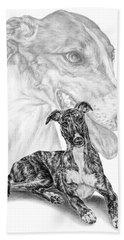 Irresistible - Greyhound Dog Print Bath Towel
