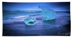 Irridescent Jokulsarlon Blue Ice Bath Towel