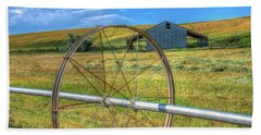 Irrigation Water Wheel Hdr Hand Towel by James Hammond