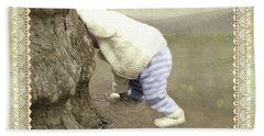 Is Bunny Behind Tree? Bath Towel