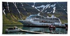 Isafjordur, Iceland Hand Towel by Shirley Mangini