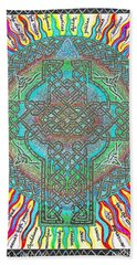 Bath Towel featuring the painting Isaiah Bible Code by Hidden Mountain
