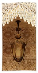 Islamic Plasterwork Hand Towel by Ralph A  Ledergerber-Photography