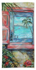Island Bar Coral Hand Towel