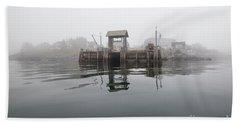 Island Boat Dock Bath Towel