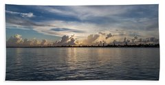 Island Horizon Hand Towel by Christopher L Thomley