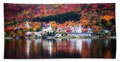 Island Pond Vermont Bath Towel by Sherman Perry