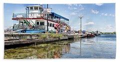 Island Princess At Harbour Dock Hand Towel