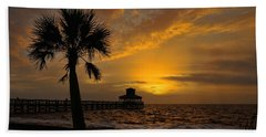 Island Sunrise Hand Towel by Judy Vincent