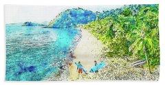 Island Surfers Hand Towel