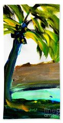 Island Time Signed Print Hand Towel by Fred Wilson