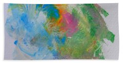 Bath Towel featuring the painting Islandcolors by Fred Wilson