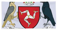 Isle Of Man Coat Of Arms Bath Towel by Movie Poster Prints