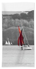 Isolated Yacht Carrick Roads Hand Towel