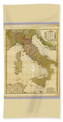 Italia Antique 1790 Italy  Map Bath Towel