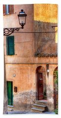 Italian Alley Bath Towel by Silvia Ganora