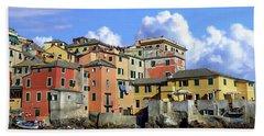 Italian Coastal Community Hand Towel by Anthony Dezenzio