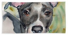 Italian Greyhound Watercolor Bath Towel