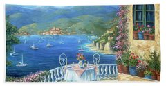 Italian Lunch On The Terrace Hand Towel