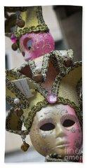 Italian Mask In Venice Bath Towel by Loriannah Hespe