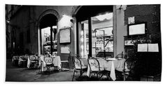 Italian Restaurant In Lucca, Italy Hand Towel